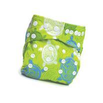 Bumkins Stuff It Cloth Diaper with 2 Minky Inserts, Green