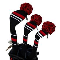 Warning Color Style Black Red White Golf Club Covers Set of