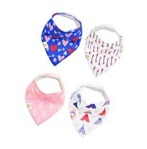 Natemia Cute Baby Bandana Drool Bibs - 4 - Pack Set with