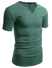 Doublju Mens Stylish Comfortable Colorful Slim Fit Plus Size