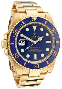 Rolex Men's Submariner Automatic Blue Dial Oyster 18k Solid