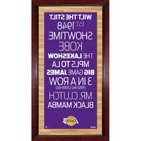 "Steiner Sports 16"" x 32"" Subway Sign Framed Wall Art - Los"