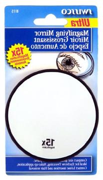 Swissco Suction Cup Mirror 15x Magnification, 3 1/2 inches