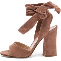 Gianvito Rossi Suede Ankle Tie Heels