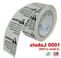 iMBAPrice® Suffocation Warning Labels  1000 Labels  Peel &