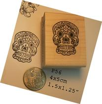 Sugar skull rubber stamp P56