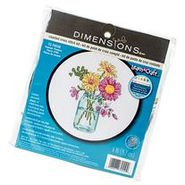 Dimensions Summer Flowers Counted Cross Stitch Kit, 72-74550