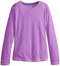 White Sierra Girls Sun Buster Tee, Aged Orchid, Large