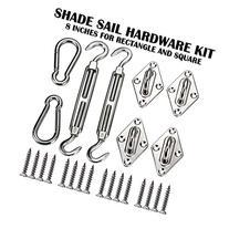 Windscreen4less Sun Shade Sail Hardware Kit - 8 Inches -
