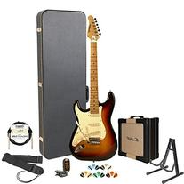 Sawtooth Sunburst Electric Guitar w/ Vintage White Pickguard