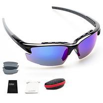 Polarized Sports Sunglasses for men & women Golf Fishing