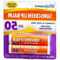 Walgreens Sunscreen Lip Balm SPF 50, 2 pk, .28 oz