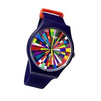 Swatch SUOV101 Color Explosion Multi Dial Purple Silicone