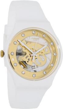 Swatch SUOZ148 sunray glam white rubber strap unisex watch