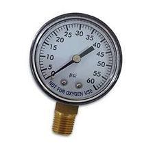 Super Pro 80960BU Pool Spa Filter Water Pressure Gauge, 0-60
