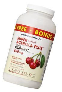 American Health Super Acerola Plus Natural Vitamin C Berry
