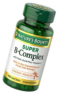Nature's Bounty Super B-complex with Folic Acid Plus Vitamin
