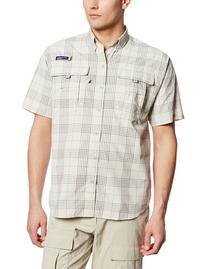 Columbia Men's Super Bahama Short Sleeve Shirt, Fossil