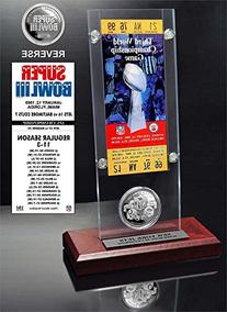NFL Super Bowl 3 Ticket & Game Coin Collection