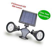 HKYH 400 Lumen 2 Lamp Base 8 LED Solar Spotlight,360°angle