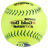 Worth Super Gold Dot Extreme Classic M Usssa Slow Pitch Softballs 12 Ball Pack