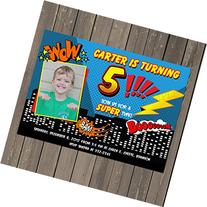 Super Hero Comic Strip Birthday Party Invitation, Superhero