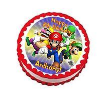 Super Mario Bros Personalized Edible Cake Topper Image -- 7.