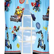 4pc Nintendo Super Mario Kart Curtain Set Road Rumble Racing