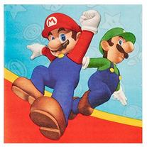 Super Mario Party Lunch Napkins  by Party Destination