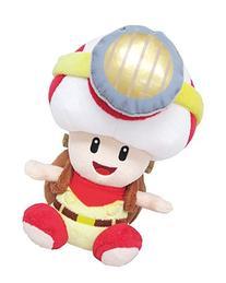 Sanei Super Mario Series Sitting Pose Captain Toad Plush Toy