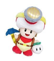 Sanei Super Mario Series Standing Pose Captain Toad Plush