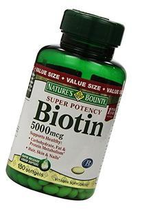 Nature's Bounty Biotin Softgels, 5000 mcg 150 ea
