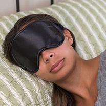 Super Silky Super-Soft Sleep Mask With Free Ear Plugs and