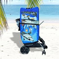 Super Ultra Wide Wheel Wonder Wheeler Beach Cart w/
