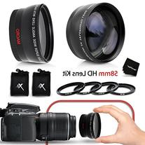 PRO 58mm Lens Attachment for all 58mm Lenses  Tele & Wide