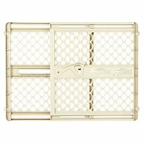 Ergo Pressure or Hardware Mount Plastic Gate, Ivory, Fits