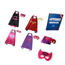 Vanguard Superhero Girl Cape and Mask set of 4 different