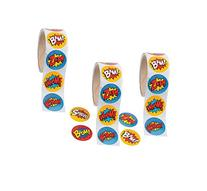 Superhero Sticker Roll - 300 STICKERS - BUY BULK AND SAVE