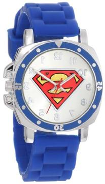 "Superman Kids' SUP9012 ""Superman"" Logo Watch with Rubber"