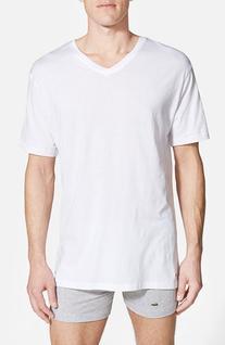 Men's Lacoste Supima Cotton V-Neck T-Shirt, Size Medium -