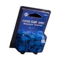 Fantasy Flight Supply: Wood Tokens: Blue