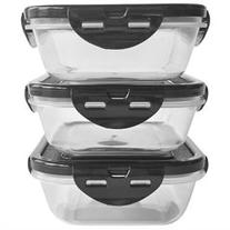6 Pack Fitness 20 oz. Sure Seal Containers 3-Pack - Clear/