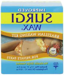 Surgi Wax Brazilian Waxing Kit For Private Parts 4oz