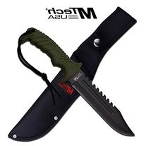 """13"""" Tactical Survival Rambo Hunting Fixed Blade Knife Army"""