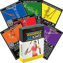 Suspension Exercise Cards by Stack 52. For TRX, Woss, and