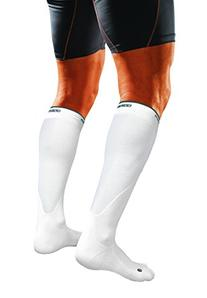 Shock Doctor SVR Recovery Compression Socks, White, Adult-X-