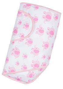 Miracle Blanket Swaddle, Pink Elephants