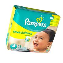 Pampers Swaddlers Size 4, 23 Count Swaddlers Wetness