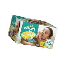 Pampers Swaddlers Diapers Size 3 Economy Pack Plus,174 Count