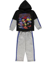 """Angry Birds Space """"Spaced Out"""" 2-Piece Sweatsuit  - black, 4"""